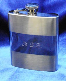 An engraved flask